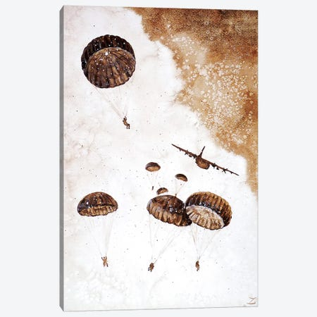 Paratroopers   Canvas Print #ZDZ156} by Zaira Dzhaubaeva Canvas Wall Art