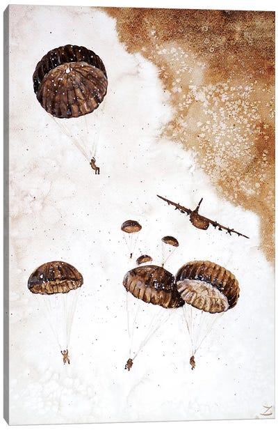 Paratroopers   Canvas Art Print