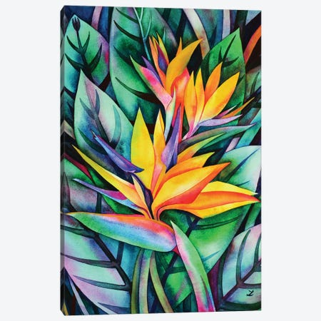 Bird Of Paradise 3-Piece Canvas #ZDZ15} by Zaira Dzhaubaeva Canvas Art Print