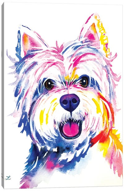 Westie Watercolor   Canvas Art Print
