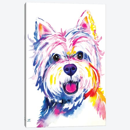 Westie Watercolor   Canvas Print #ZDZ167} by Zaira Dzhaubaeva Canvas Art Print