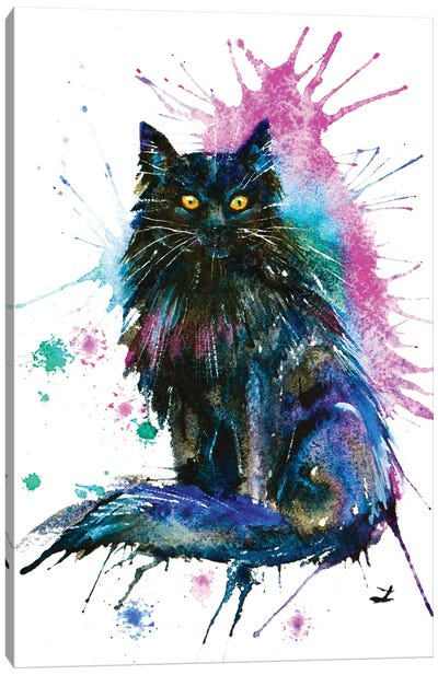 Black Cat Canvas Art Print