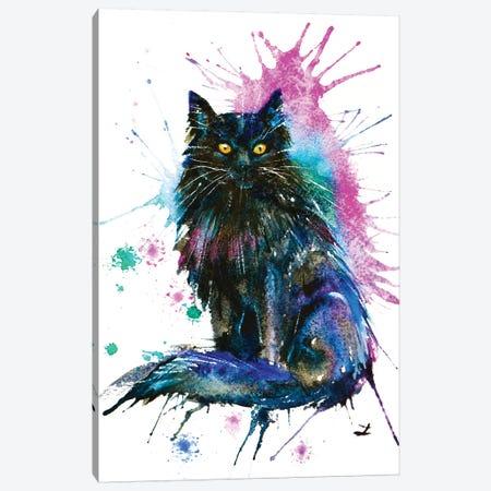 Black Cat Canvas Print #ZDZ16} by Zaira Dzhaubaeva Art Print