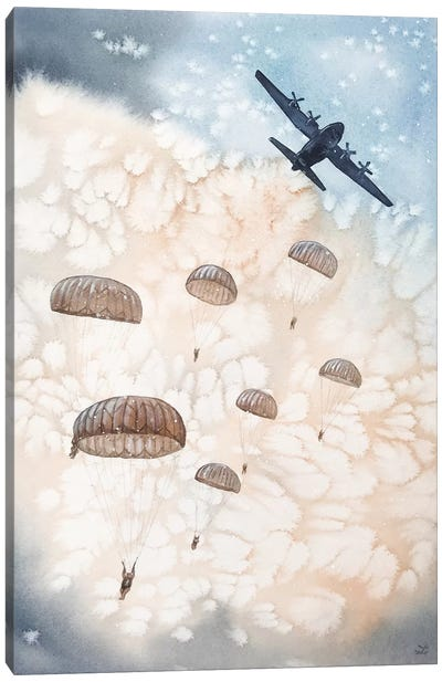 Airborne All The Way Canvas Art Print