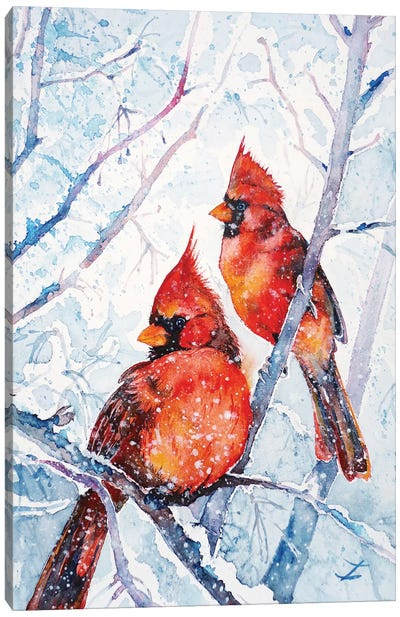 Flames Of Winter Canvas Art Print