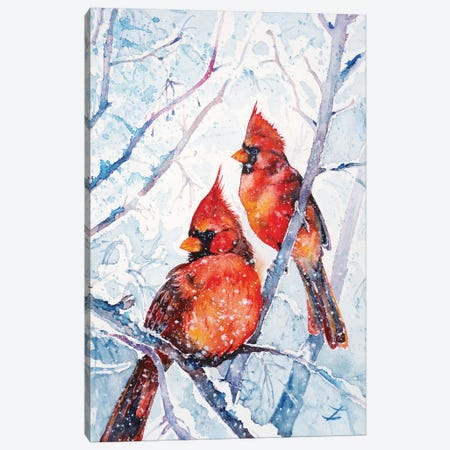 Flames Of Winter Canvas Print #ZDZ172} by Zaira Dzhaubaeva Canvas Print