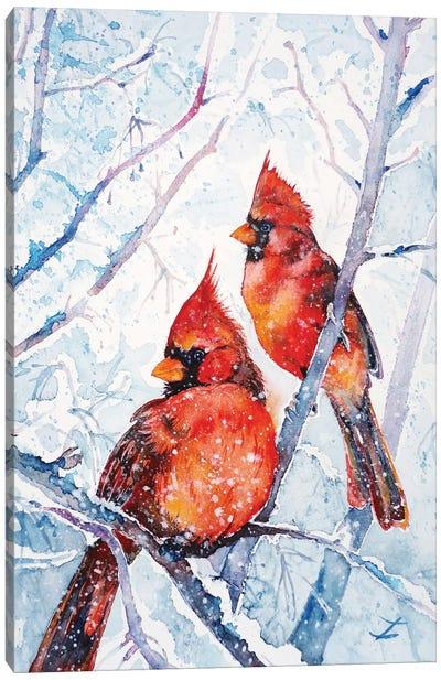 Flames Of Winter Canvas Art Print