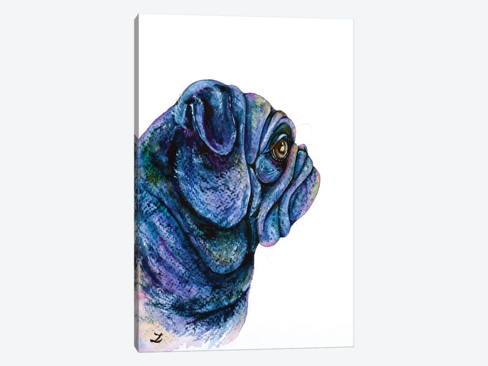 Black Pug by Zaira Dzhaubaeva 1-piece Art Print