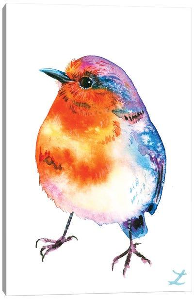 Cheerful Robin Canvas Art Print