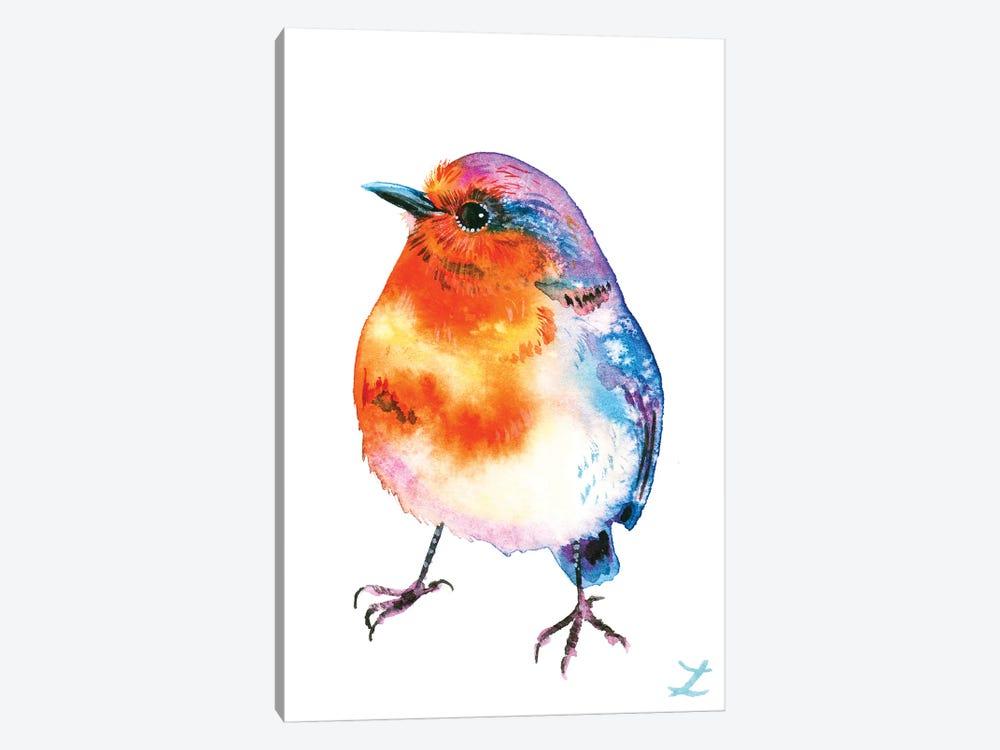 Cheerful Robin by Zaira Dzhaubaeva 1-piece Art Print