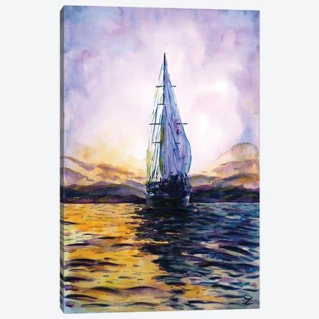 Purple Sunset Canvas Print #ZDZ186} by Zaira Dzhaubaeva Canvas Art Print