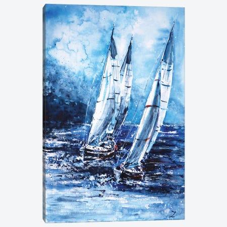 Sailing Away From The Storm 3-Piece Canvas #ZDZ188} by Zaira Dzhaubaeva Canvas Art