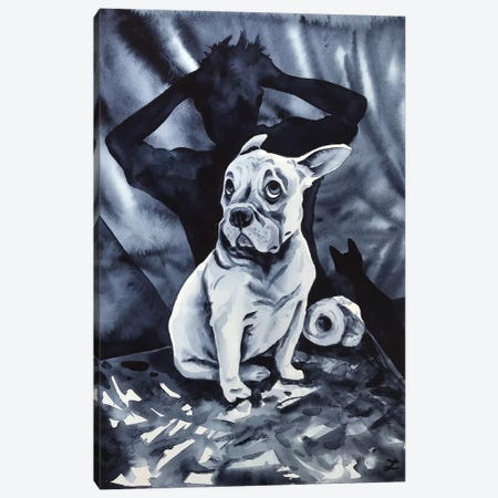 It Was The Cat... Canvas Print #ZDZ190} by Zaira Dzhaubaeva Canvas Print