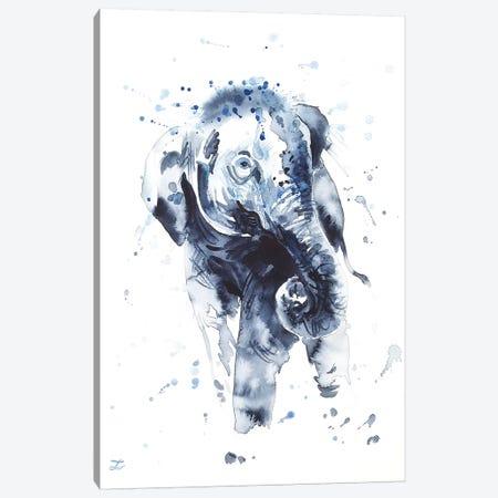Elephant Calf Canvas Print #ZDZ191} by Zaira Dzhaubaeva Canvas Print