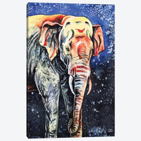 Night Elephant Canvas Print #ZDZ193} by Zaira Dzhaubaeva Canvas Art Print