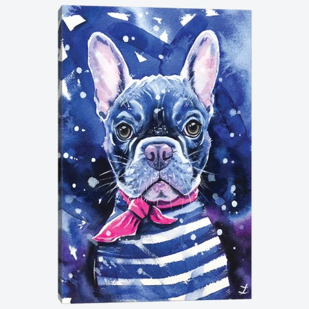 Frenchie Canvas Print #ZDZ194} by Zaira Dzhaubaeva Canvas Art