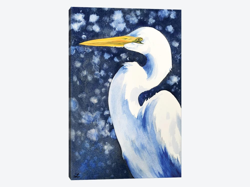 Winter Egret by Zaira Dzhaubaeva 1-piece Canvas Wall Art