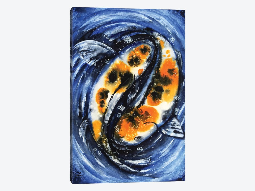 Feng Shui Koi Fish by Zaira Dzhaubaeva 1-piece Canvas Print