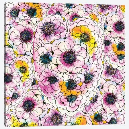 Blooming Heart Canvas Print #ZDZ19} by Zaira Dzhaubaeva Canvas Artwork