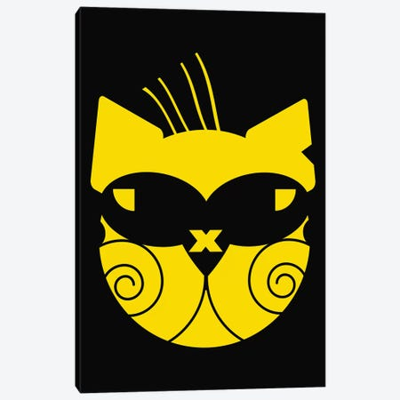 Cool Cat Canvas Print #ZDZ205} by Zaira Dzhaubaeva Canvas Wall Art