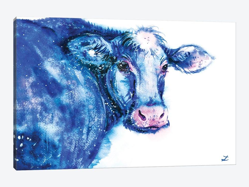 Blue Cow by Zaira Dzhaubaeva 1-piece Art Print