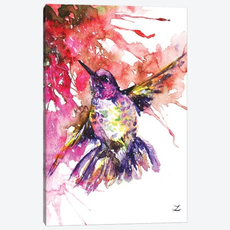 Hummingbird Canvas Print #ZDZ216} by Zaira Dzhaubaeva Canvas Art Print