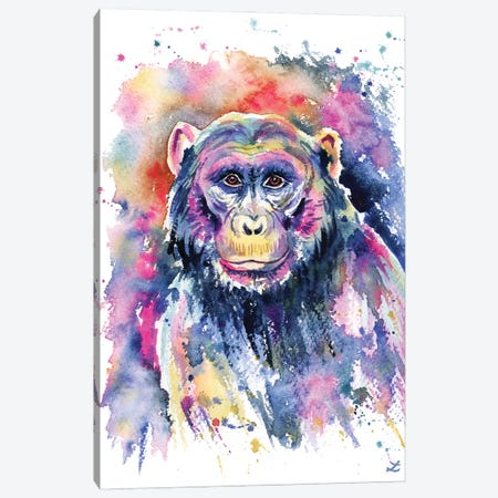 Chimpanzee Canvas Print #ZDZ219} by Zaira Dzhaubaeva Canvas Art