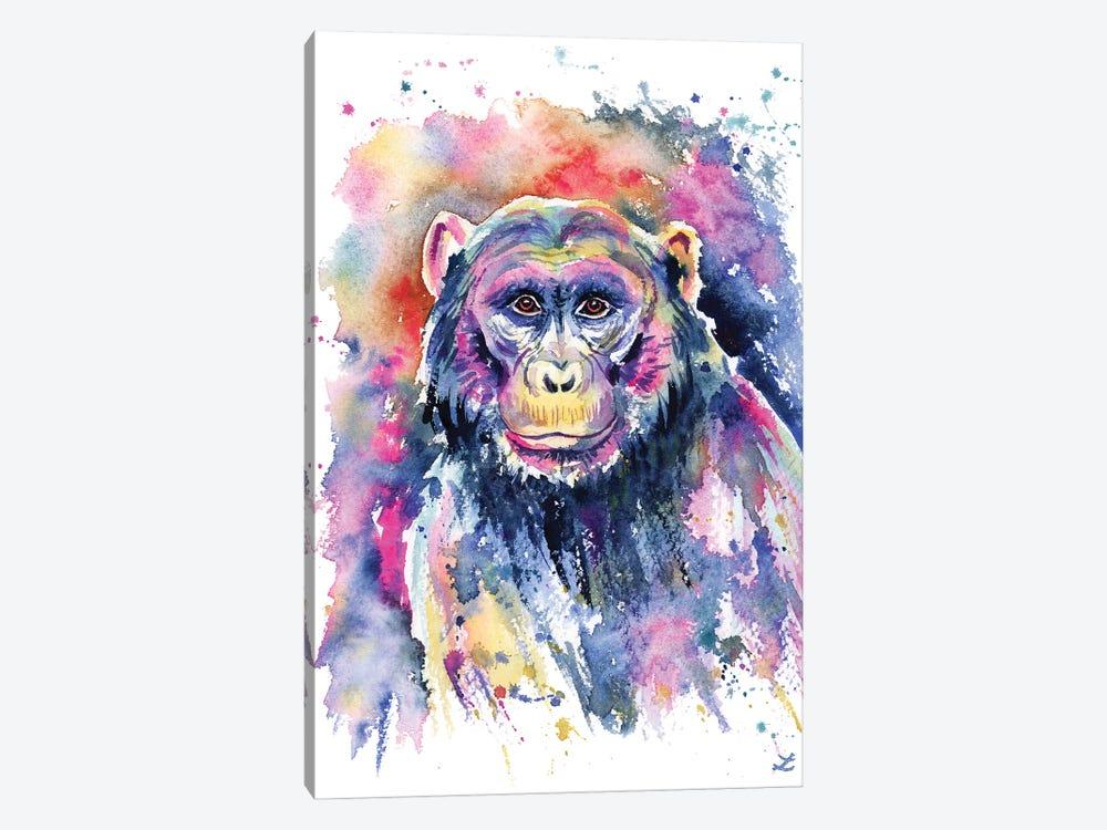 Chimpanzee by Zaira Dzhaubaeva 1-piece Canvas Print