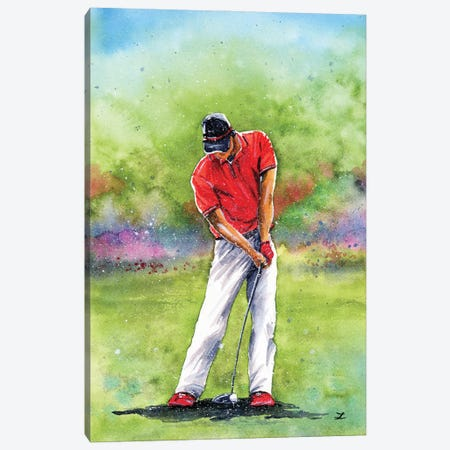 Golf Time Canvas Print #ZDZ220} by Zaira Dzhaubaeva Art Print