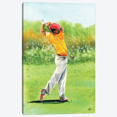 Golfer Canvas Print #ZDZ221} by Zaira Dzhaubaeva Canvas Print
