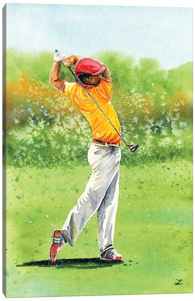 Golfer Canvas Art Print