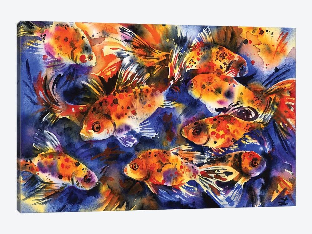 Shubunkin Goldfish by Zaira Dzhaubaeva 1-piece Art Print