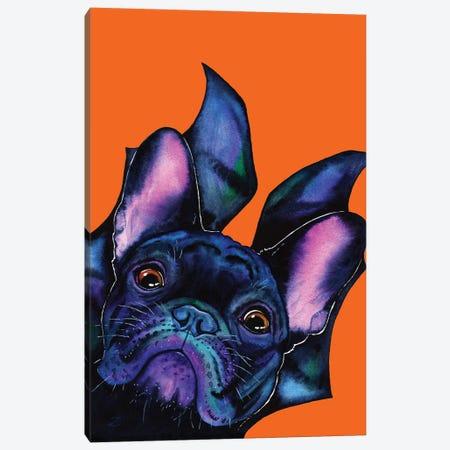 Very Bat Dog Canvas Print #ZDZ226} by Zaira Dzhaubaeva Canvas Wall Art