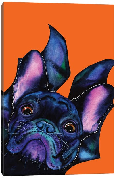 Very Bat Dog Canvas Art Print