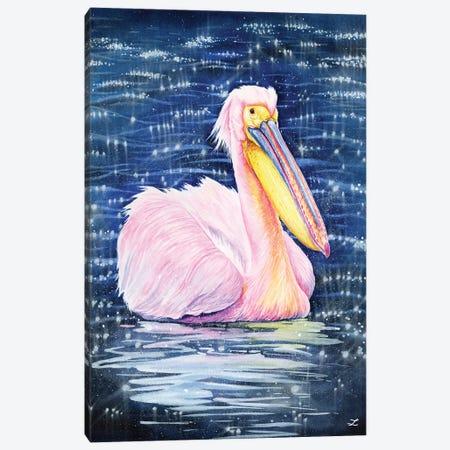 Pelican Canvas Print #ZDZ235} by Zaira Dzhaubaeva Art Print