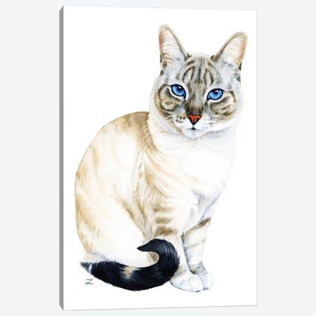 Tiramisu The Blue-Eyed Cat Canvas Print #ZDZ238} by Zaira Dzhaubaeva Canvas Art