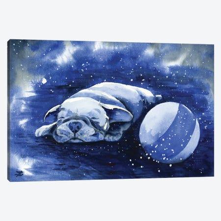 Puppy Dreams Canvas Print #ZDZ244} by Zaira Dzhaubaeva Canvas Art