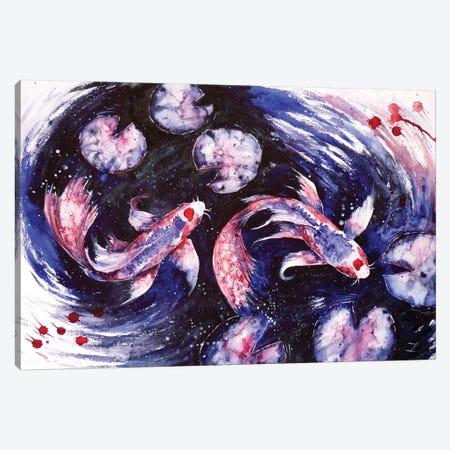 Butterfly Kois Canvas Print #ZDZ25} by Zaira Dzhaubaeva Canvas Artwork