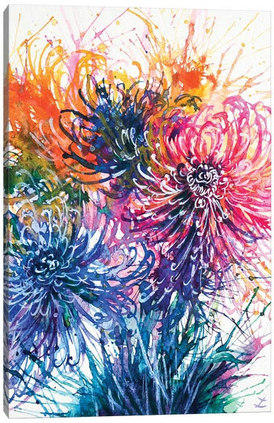 Chrysanthemum Splash Canvas Art Print