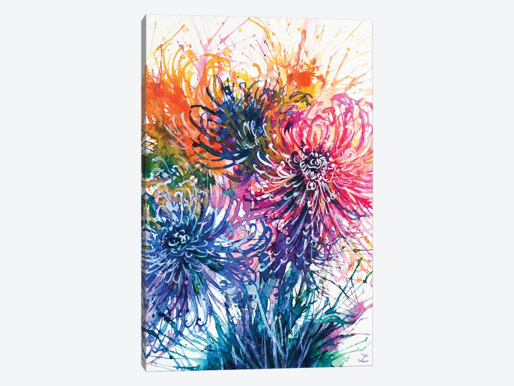 Chrysanthemum Splash 1-piece Canvas Print