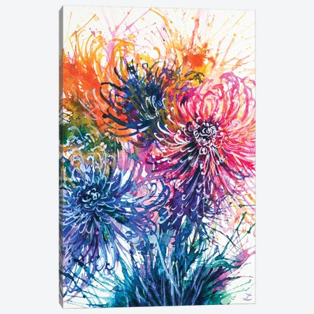 Chrysanthemum Splash 3-Piece Canvas #ZDZ28} by Zaira Dzhaubaeva Canvas Art Print