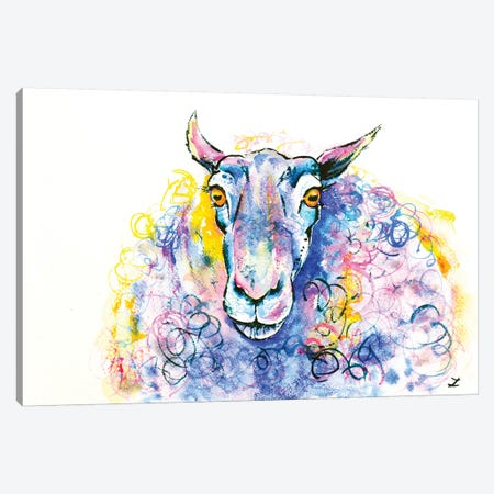 Colorful Sheep Canvas Print #ZDZ31} by Zaira Dzhaubaeva Canvas Wall Art