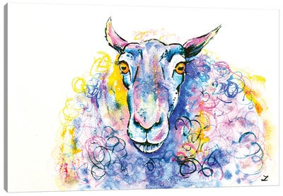 Colorful Sheep Canvas Art Print