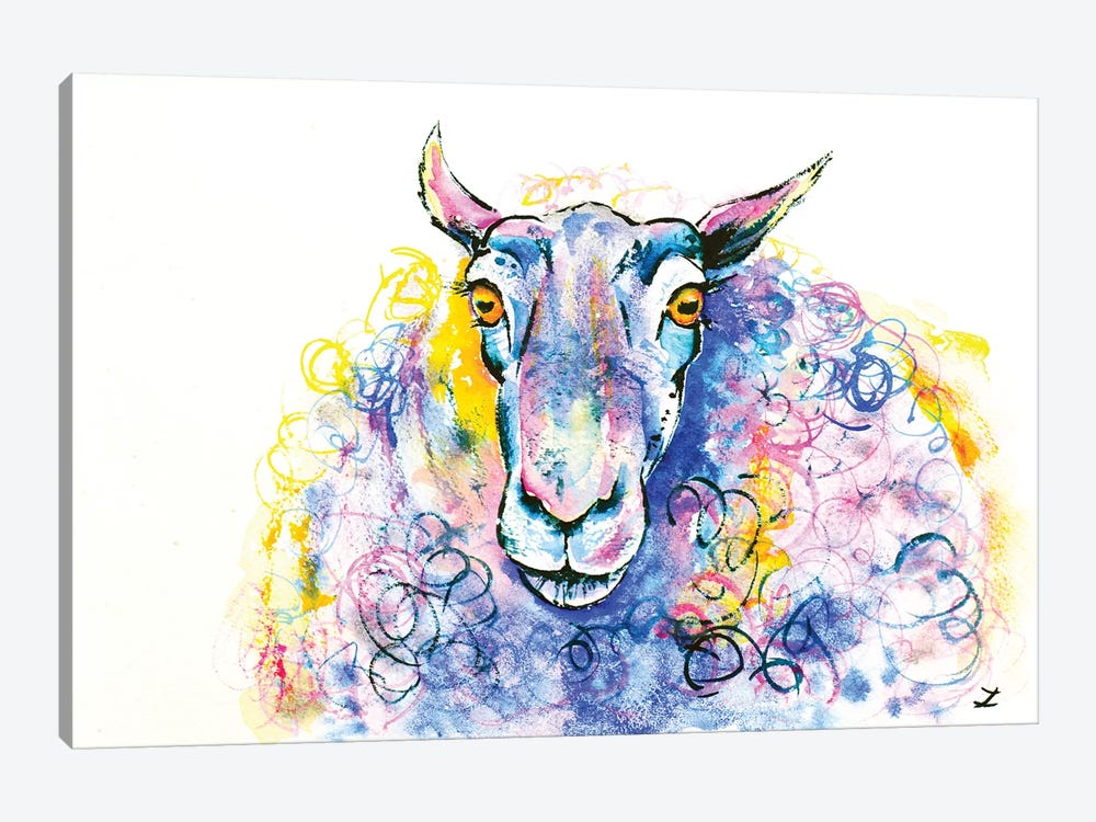 Colorful Sheep by Zaira Dzhaubaeva 1-piece Canvas Print