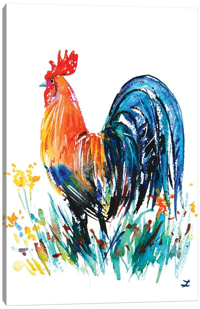 Farm Rooster Canvas Art Print
