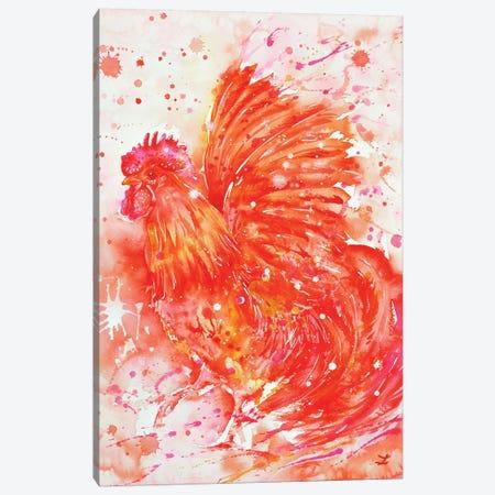 Flaming Rooster Canvas Print #ZDZ44} by Zaira Dzhaubaeva Canvas Art