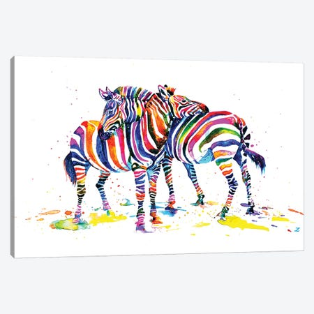 Friends Canvas Print #ZDZ45} by Zaira Dzhaubaeva Canvas Artwork