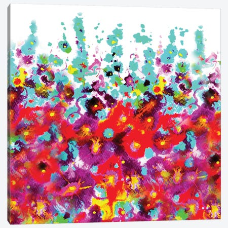 Garden Hollyhocks Canvas Print #ZDZ48} by Zaira Dzhaubaeva Canvas Art Print