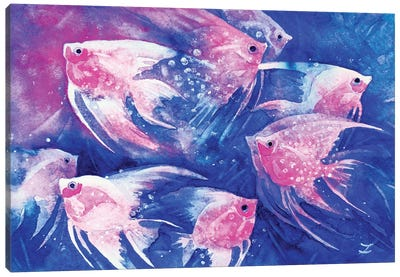 Graceful Pink Canvas Art Print