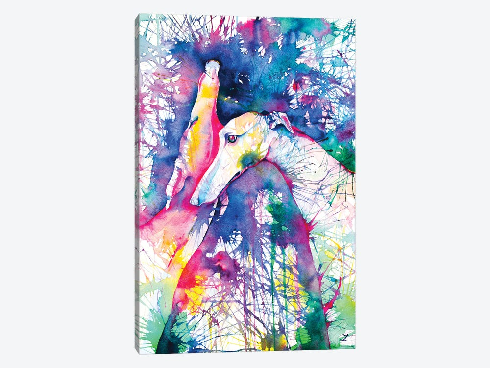 Greyhound Trance by Zaira Dzhaubaeva 1-piece Art Print